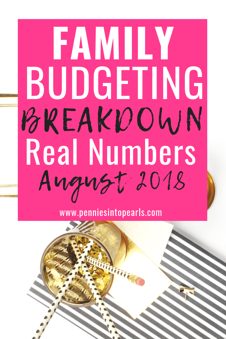 august 2018 family budget update pennies into pearls