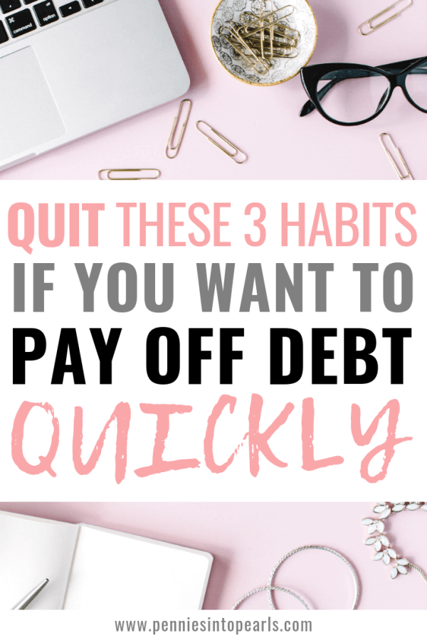 If it isn't already, paying off debt needs to become your number one priority! When you live with debt, you are literally risking the roof being stripped away from your family. Stop these 3 habits and you can start paying off debt quickly even with just one income!