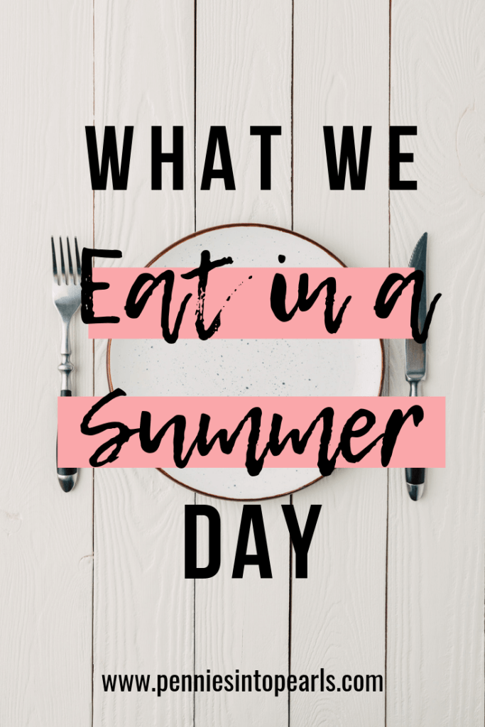 We are sharing with you exactly what our family eats in a day on a budget. What we eat in a day will surprise you since our family food budget is only $500 for the entire month for our family of five!