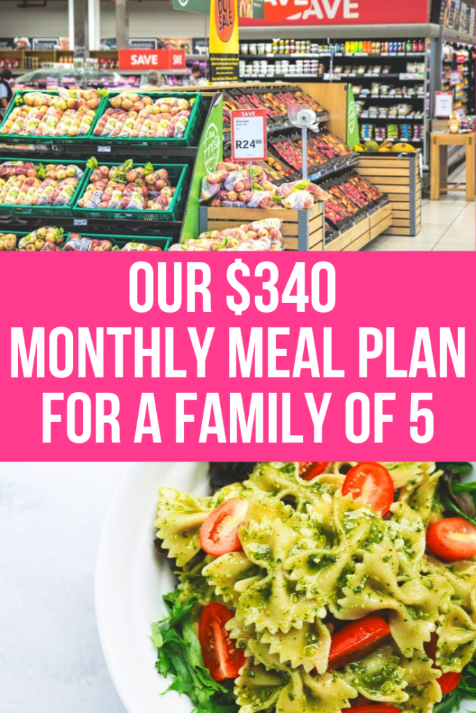 This is how you can keep your grocery budget under $340 every month, saving you hundreds of dollars when doing your grocery shopping on a budget! These grocery shopping tips are going to help you meal plan like a mom boss!