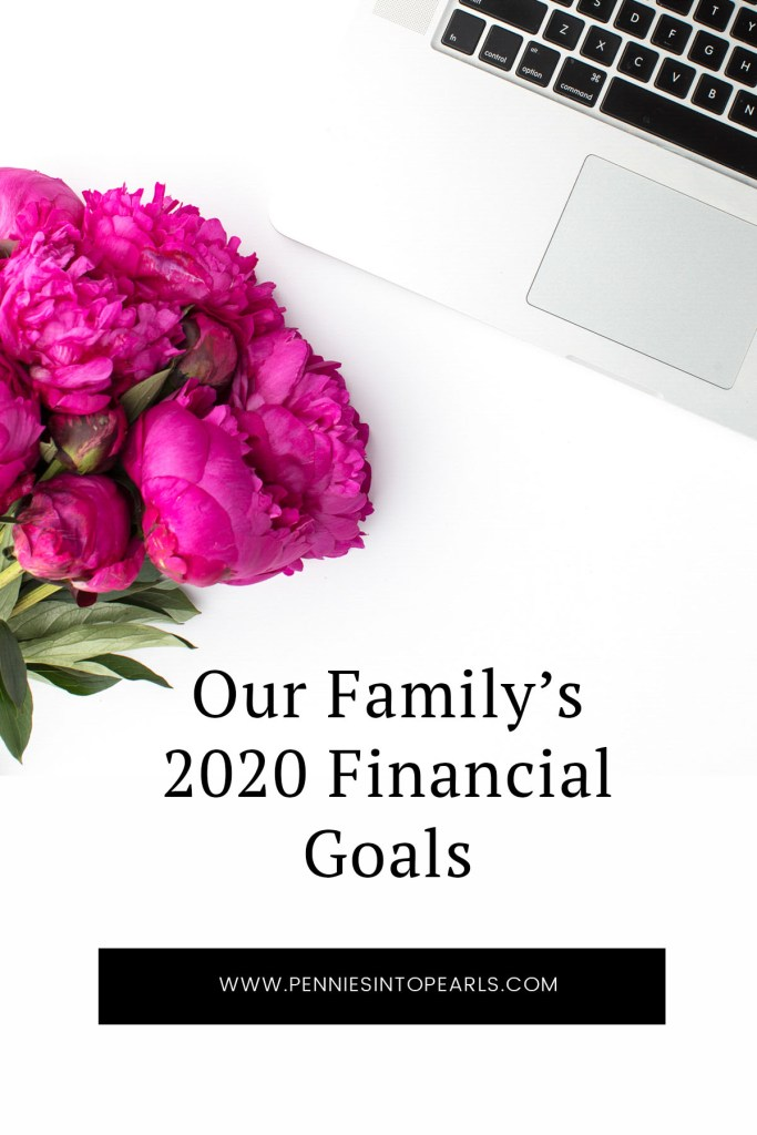 Today we are sharing our 2020 financial goals for our family of five. We had a great 2019, but we definitely have areas we could improve and some fresh new goals for the new year!
