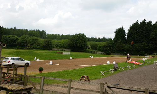 Unaffiliated Dressage Outdoor Arena at the Yorkshire Riding Centre