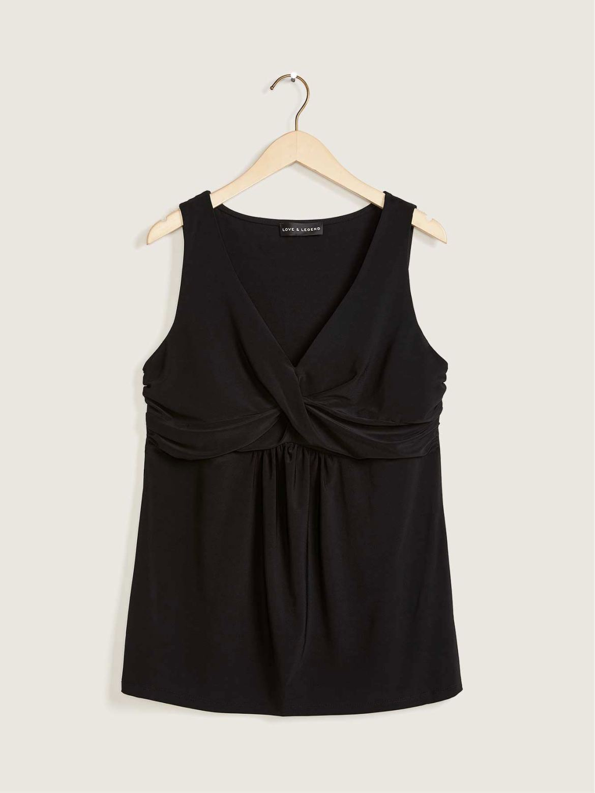 Sleeveless Top with Twist Detail - Love & Legend