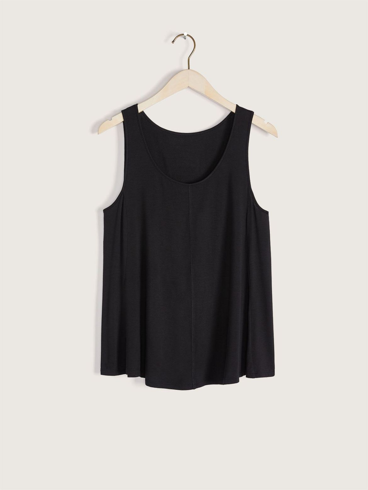 Black Scoop-Neck Swing Tank Top - Addition Elle