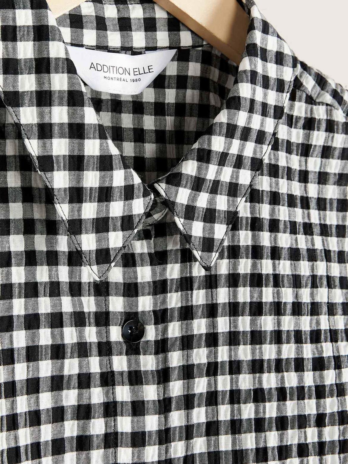 Sleeveless Gingham Shirt - Addition Elle