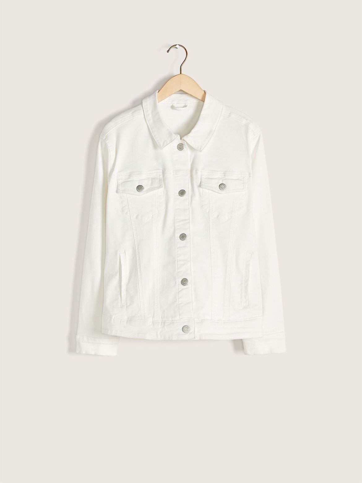 Classic White Denim Jacket - Addition Elle