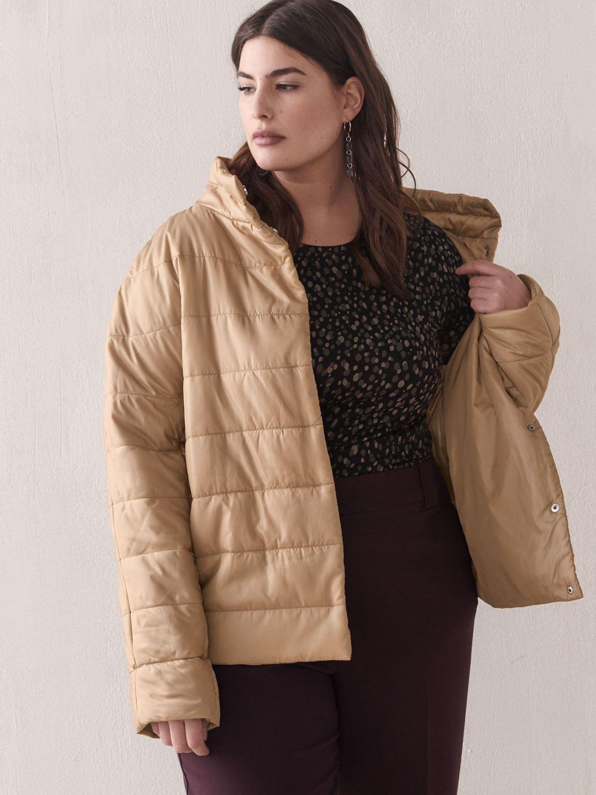 Woven Cocoon Coat - Addition Elle