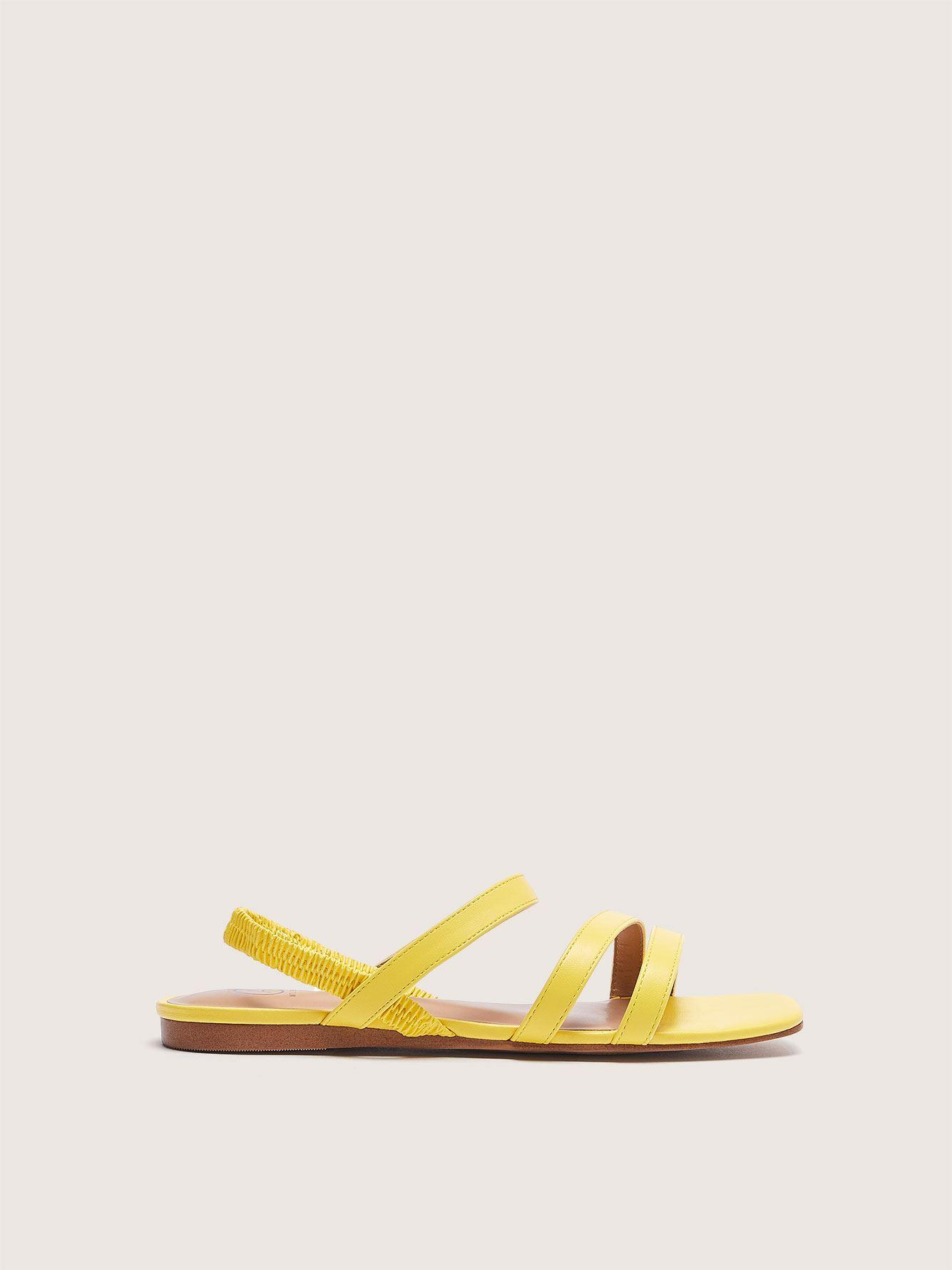 Wide Elastic Strap Flat Sandal - Addition Elle 12