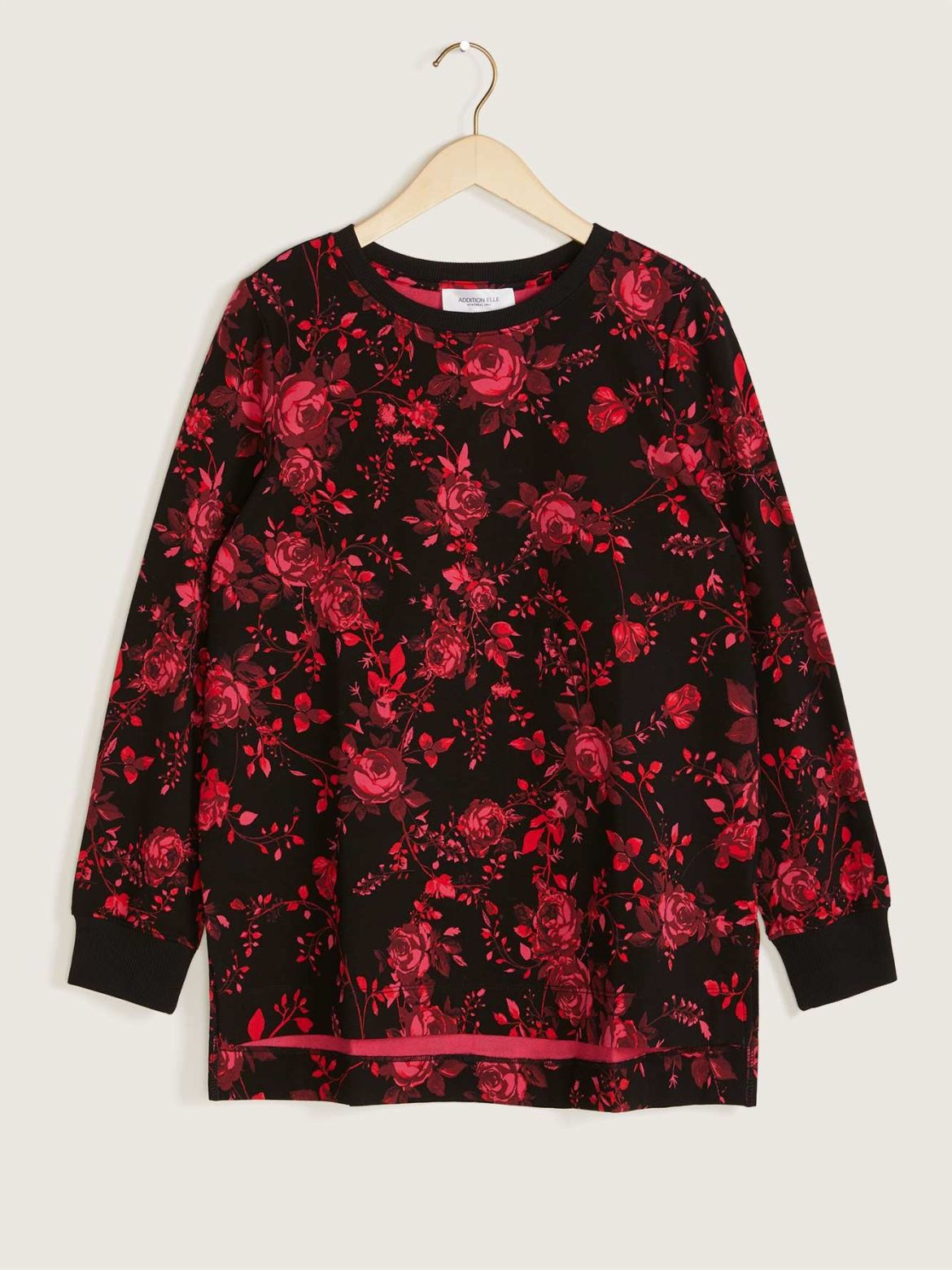 Printed Cotton Long Sleeve Sweatshirt