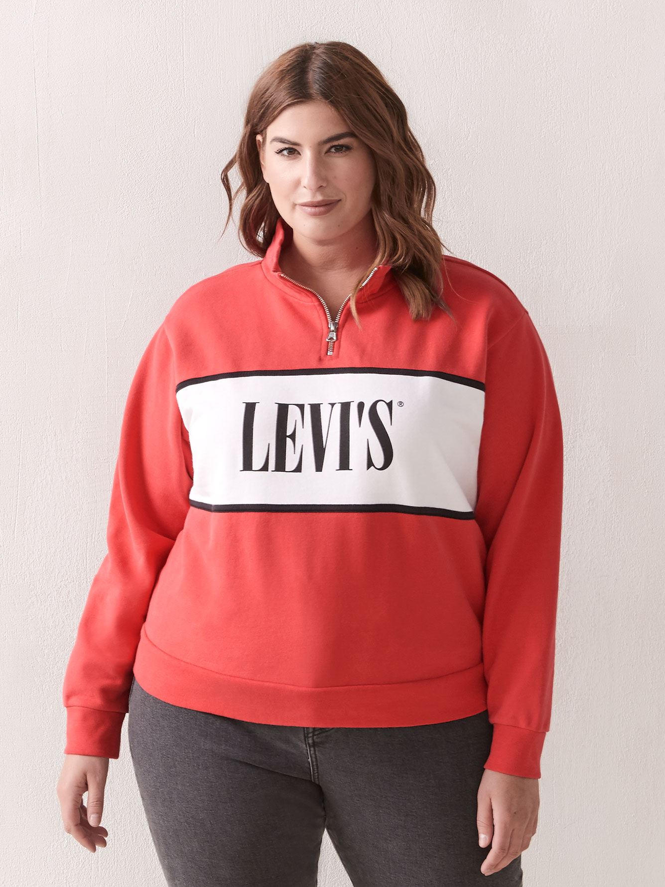 Half-Zip Logo Sweatshirt - Levi's Premium 4