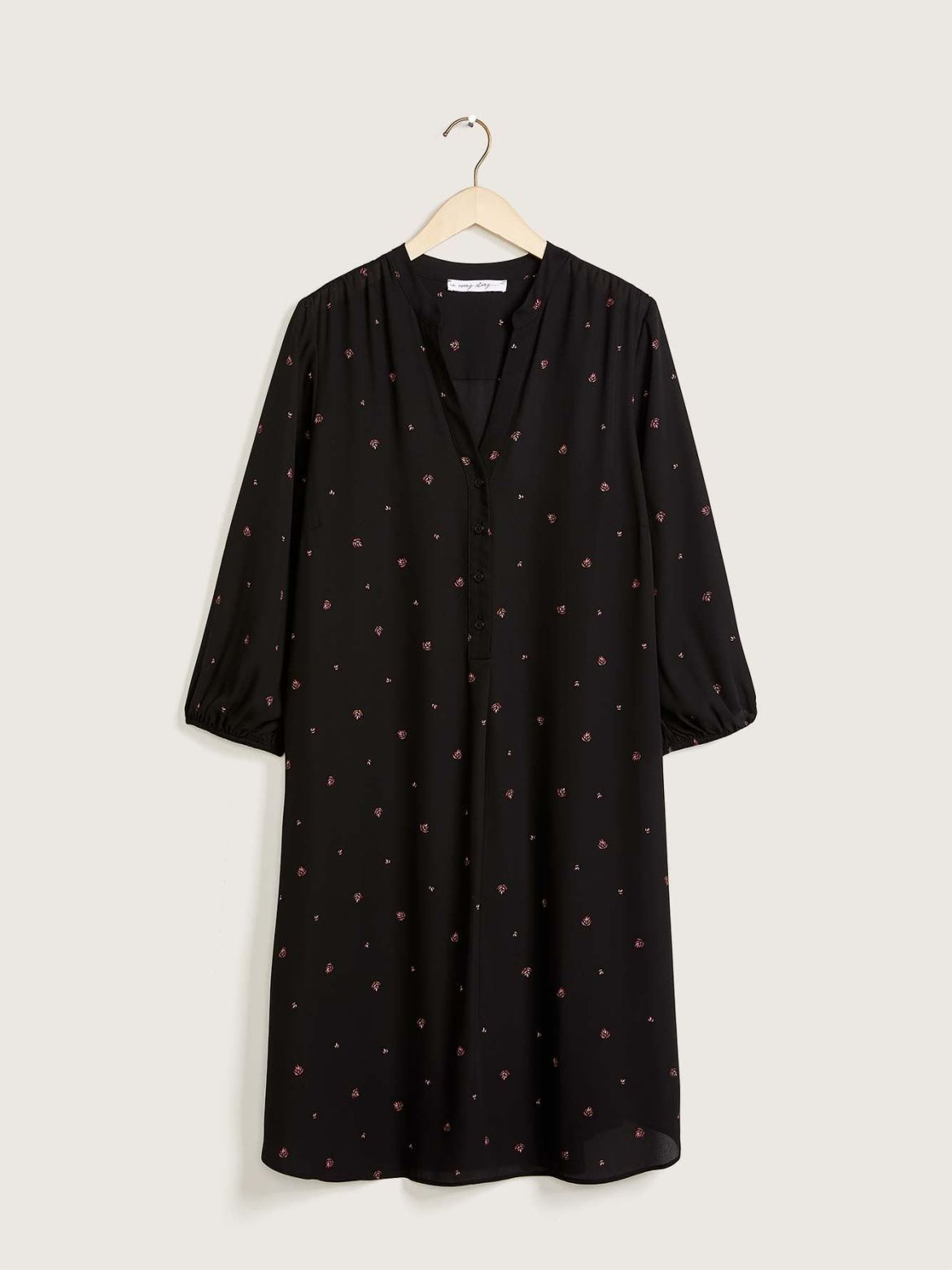 Balloon-Sleeve Shirt Dress - In Every Story