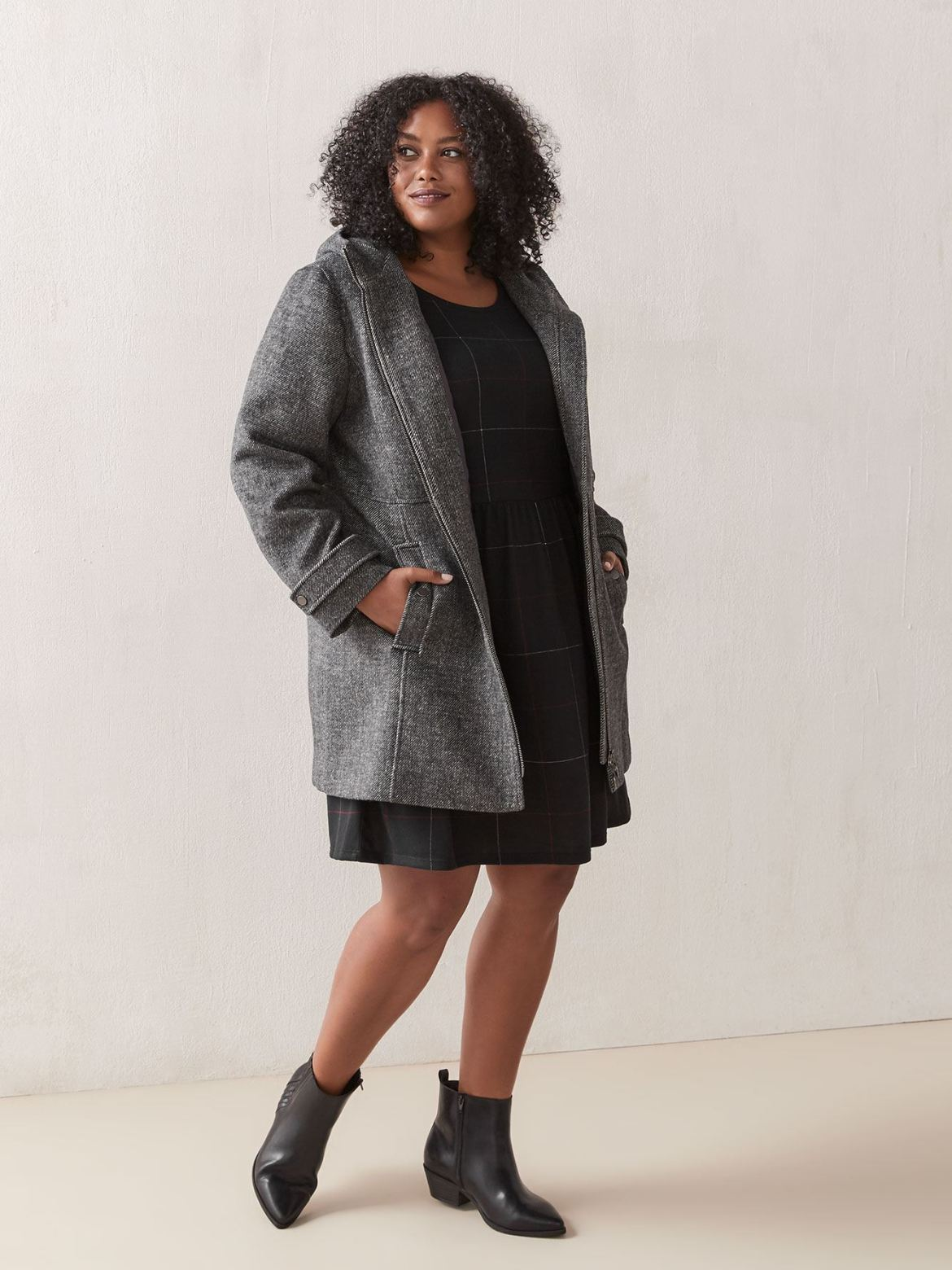 Zip Front Wool Coat - In Every Story