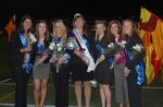 Laura Wissler (center) was crowned homecoming queen and Sara Bennis (far left) was named first runner-up