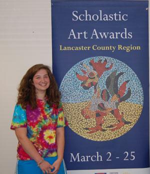 Penn Manor High School junior Kristen Longsderff created a ceramic piece featuring a rooster