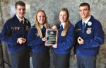 Agronomy team members (l-r): Jesse Burkholder, Kayla Major, Katie Hess and Aaron Breneman