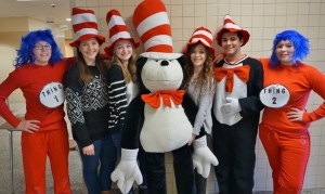 Penn Manor High School Serteen Club members get in character for the March 1 Readathon.