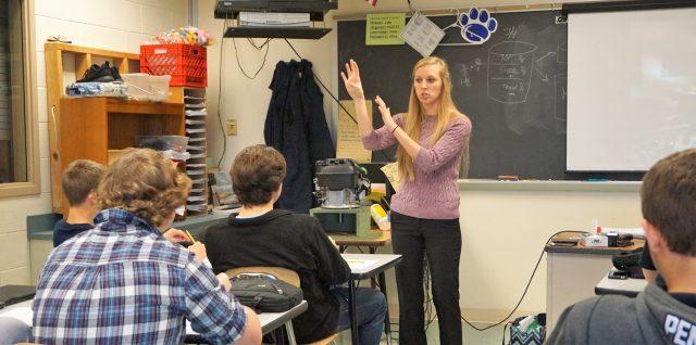 Meagan Slates teaching a class