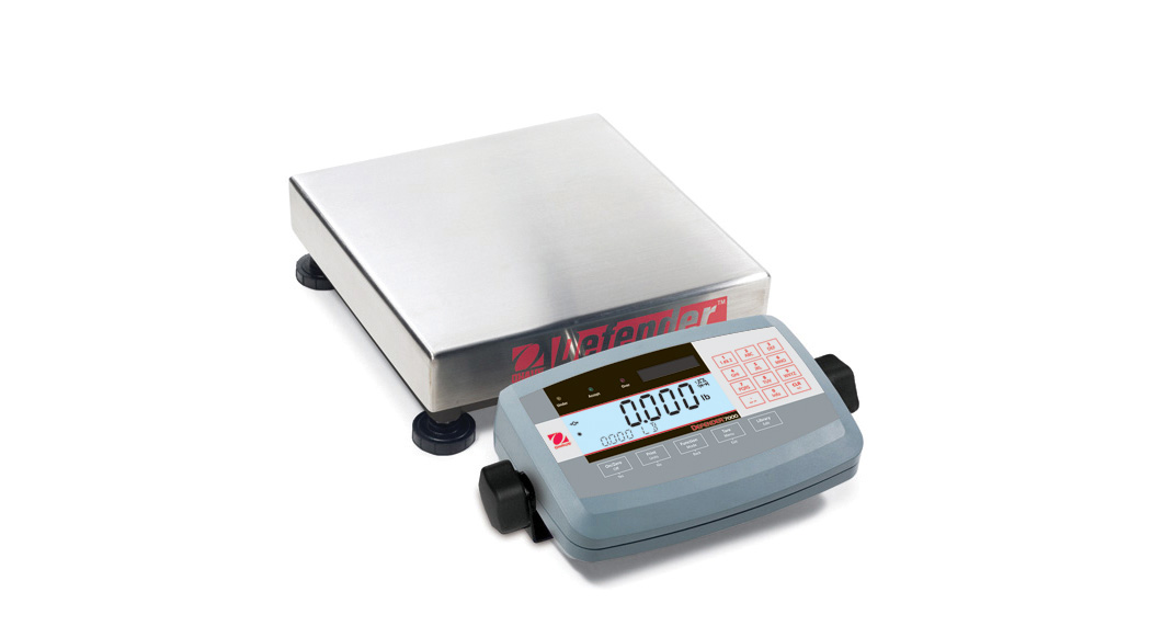 300000g x 50g Ohaus Defender 304 Stainless Steel NTEP Certified Washdown Advanced Xtreme Rectangular Scale