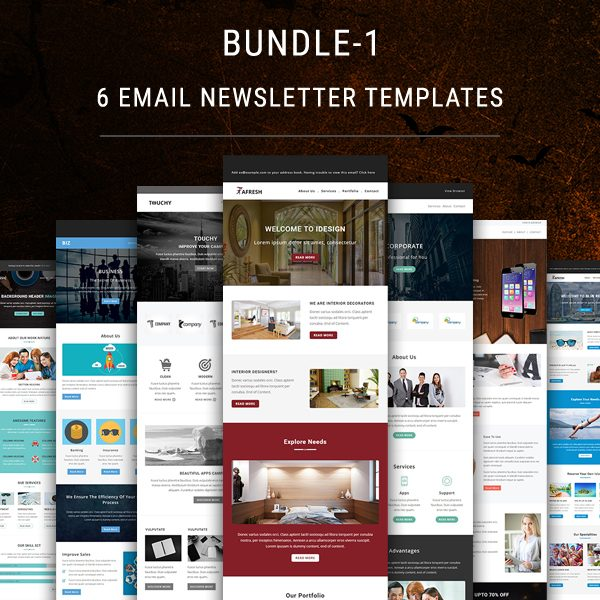 Create your own fun newsletter template to use again and again to connect with readers and grow your customer ba. 6 Email Newsletter Templates Bundle 1 Pennyblack Templates