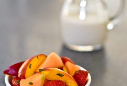 Fruit Salad with yoghurt or cashew nut cream 2