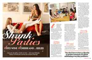 Shrink parties magazine feature