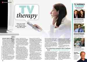 TV as therapy tips