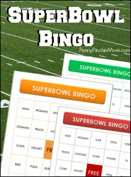 The Super Bowl is not always fun for everyone to watch, but this game can involve the entire family! Just print your cards and grab some pennies and then watch those commercials. Anytime you see any of your items come up, cover them up! Get some prizes for a win, a black out and more!