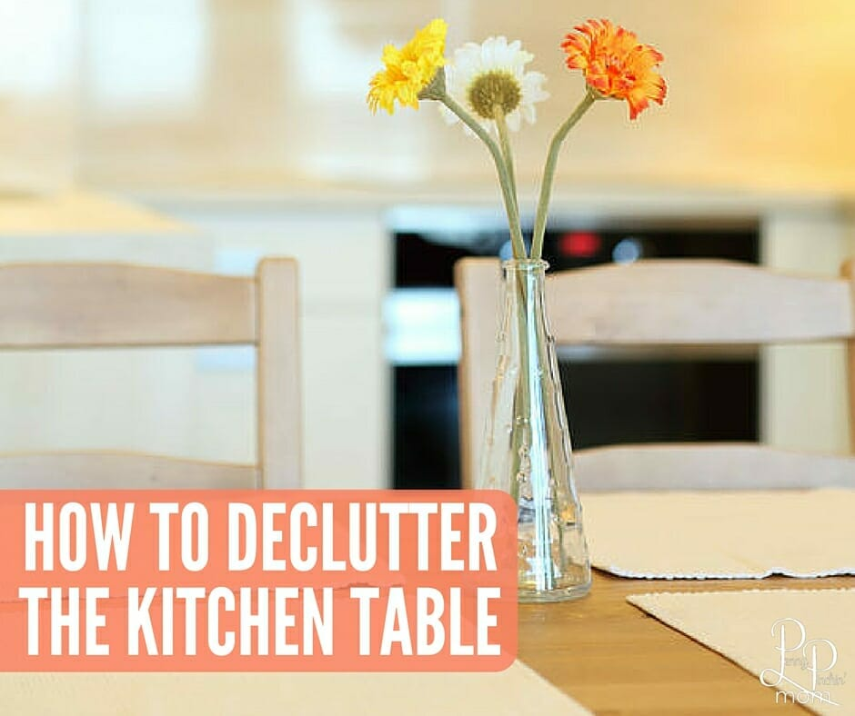 How To Organize An Declutter The Dining Room Table
