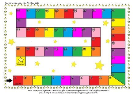 Board Game Template PDF -