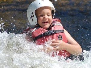 Family summer fun lower Penobscot white water rafting.