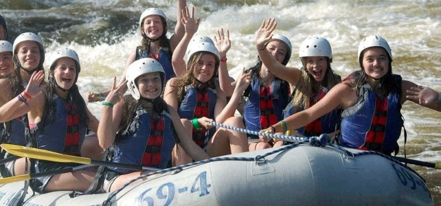 White water rafting in Maine on the Penobscot river.