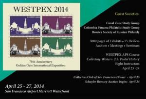 WESTPEX 2014 postcard