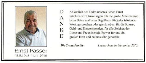 Danke Fasser Ernst 2015