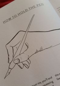 How to hold the pen illustration