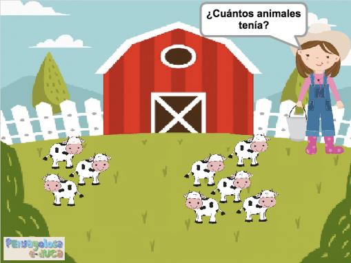 ¿Cuántos animales tenía? (1-10)
