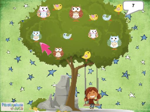 Sigue contando solo las aves en el árbol (11-15)