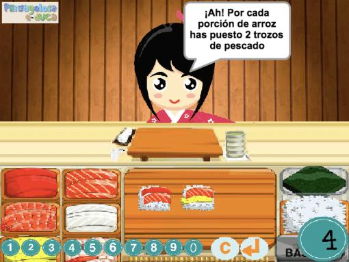 Reparto proporcional con sushi (1-6)