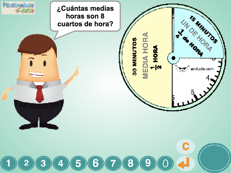 ¿Cuántas horas o medias horas son…?