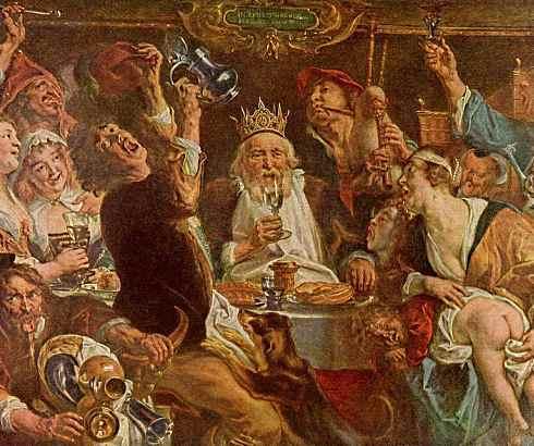 Jakob Jordans, Kralj pije