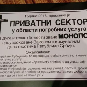 Protest privatnih pogrebnika: Samo će JKP imati pravo da sahranjuju u Srbiji