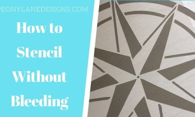 How to Stencil without Paint Bleed