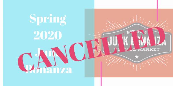 Spring Junk Bonanza Cancelled
