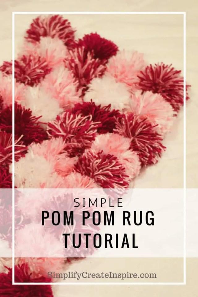 Simple Pom Pom Rug Tutorial