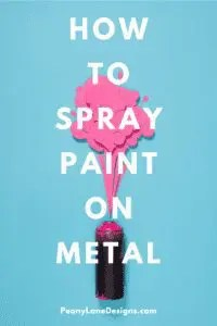 How to Spray Paint Metal // how to spray paint // spray paint diy // spray paint diy decor // spray paint metal //diy spray paint
