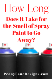 How Long Does It Take for the Smell of Spray Paint to Go Away // how to spray paint // spray paint diy // spray paint diy decor // spray paint metal //diy spray paint
