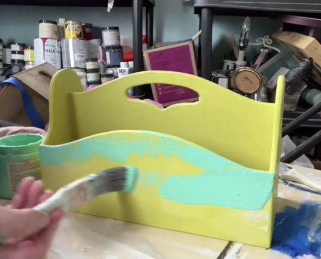 brush the third layer of paint on