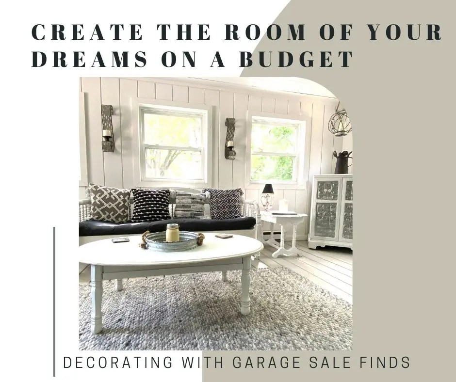 Decorating with Garage Sale Finds