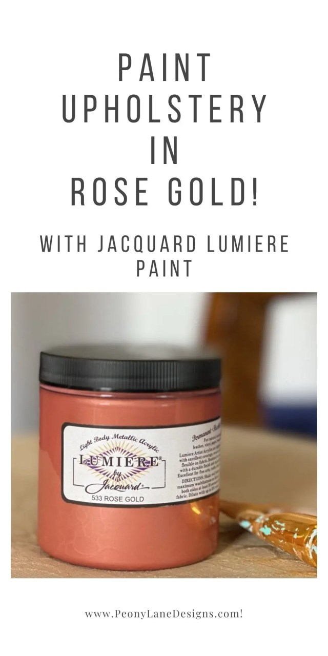 Paint Upholstery in Rose Gold