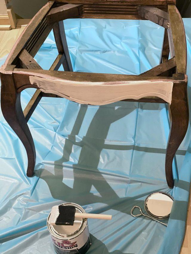Kilz Adhesion primed chair