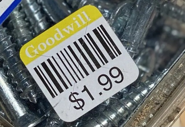 Goodwill price stickers